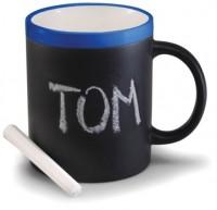 Подарок Чашка 'Терра' керамическая матовая с мелком 340 мл (синяя)