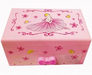 Подарок Музыкальная шкатулка с балериной (Розовая)