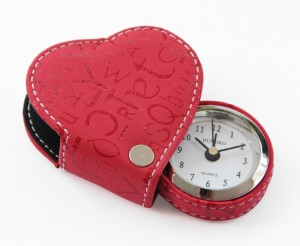 Подарок Cердечко-будильник 'Heart Red' красный
