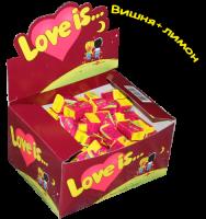Подарок Блок жвачек 'Love is...' (вишня-лимон)