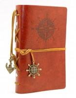 Подарок Винтажный блокнот морской тематики (коричневый)