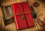 Подарок Винтажный блокнот морской тематики (красный)
