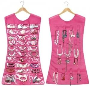 Подарок Маленькое платье-органайзер для украшений (розовый цвет)