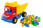 Грузовик с конструктором 'Multi truck' (красно-синяя кабина) Wader (39221-2)