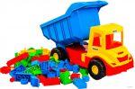Грузовик с конструктором 'Multi truck' (сине-желтая кабина) Wader (39221-1)