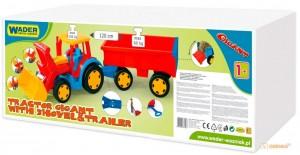 Трактор 'Гигант' (с прицепом и ковшом) Wader (66300)