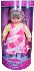 Мягкая кукла Lotus Onda в клетчатом сарафане (40 см) (16998-3)