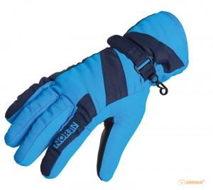 Перчатки мембранные Norfin 'Women Windstop Blue' (флис / утеплитель / PL) L (705063-L)