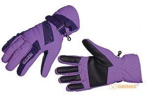 Перчатки женские мембранные Norfin 'Women Windstoper Violett' (флис / утеплитель / PL) L (705066-L)