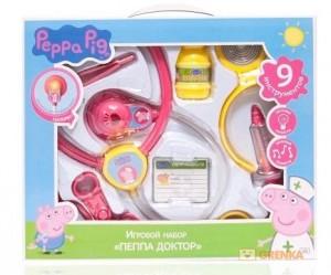 Игровой набор Peppa 'Пеппа доктор' (9 предметов)