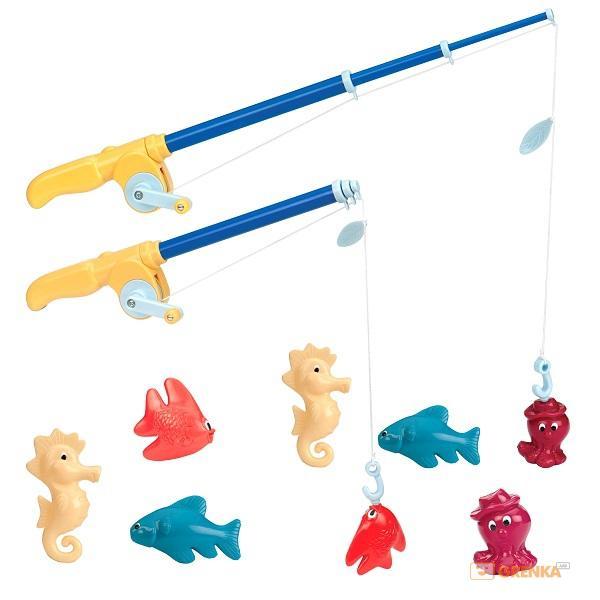 Купить Игровой набор 'Магнитная рыбалка Делюкс' (2 удочки, 8 морских животных), Battat Lite