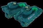 Декоративные тапочки-танки WePlay World of Tanks (WG043328)