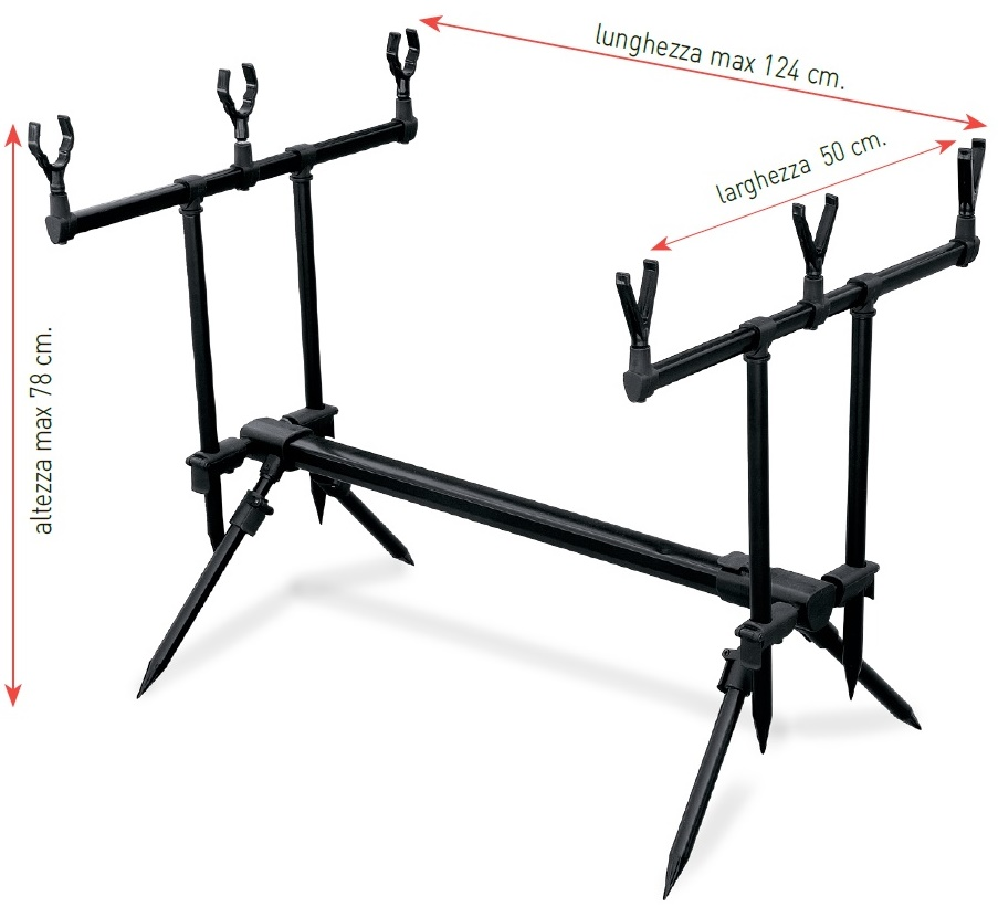 Купить Подставка Lineaeffe Rod Pod Set для трех удилищ + сумка (6313034)
