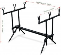 Подставка Lineaeffe Rod Pod Set для трех удилищ + сумка (6313034)