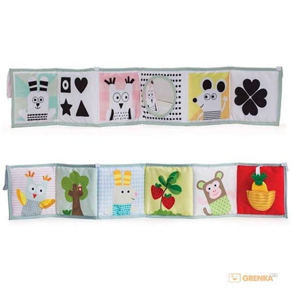 Купить Развивающая книжка-раскладушка 'Мышки-Мартышки', Taf Toys
