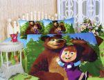 Детское постельное белье La Scala KI-062 'Маша и Медведь' полуторный
