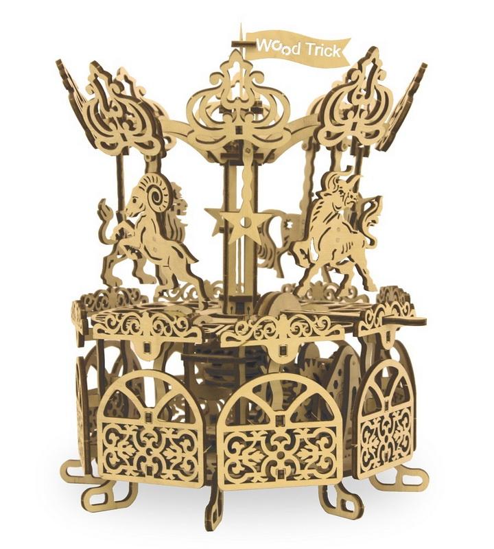 Купить Механический 3D пазл Wood Trick 'Карусель' (1234-12)