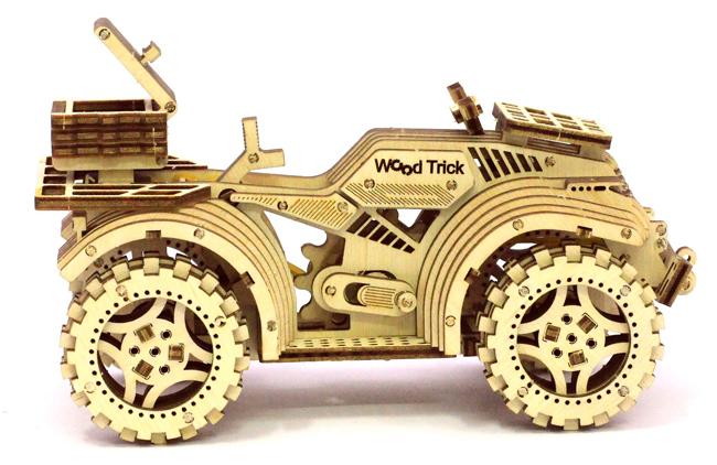 Купить Механический 3D пазл Wood Trick 'Квадроцикл' (1234-5)