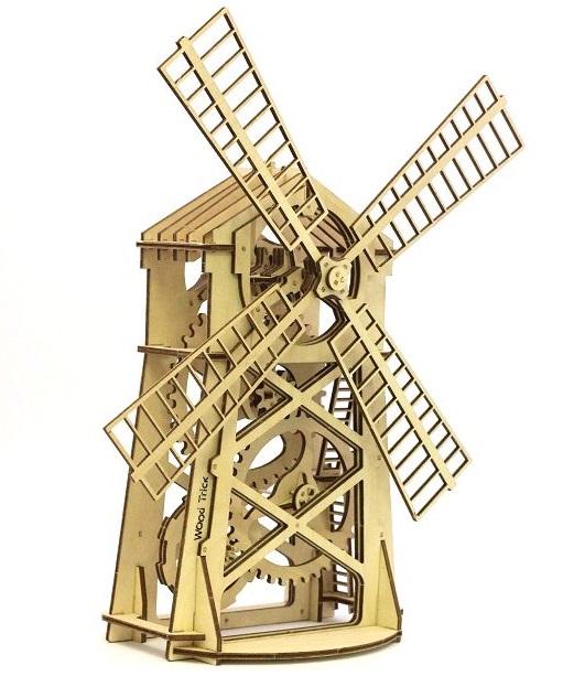 Купить Механический 3D пазл Wood Trick 'Мельница' (1234-1)