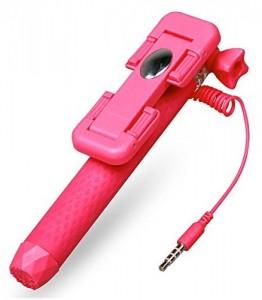 Подарок Компактный монопод для селфи SmartYou Mini 3 розовый