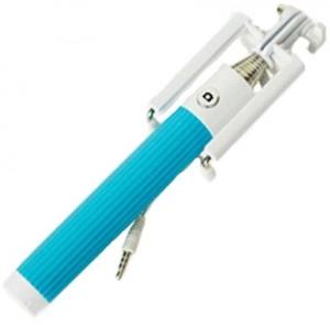 Подарок Компактный монопод для селфи SmartYou Z07-5 E Mini с проводом (голубой)