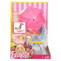 Набір Barbie 'Меблі для пікніка - шезлонг та парасолька' (DXB69-2)