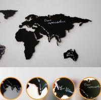 Подарок Пробковая карта Мира (грифельная версия)