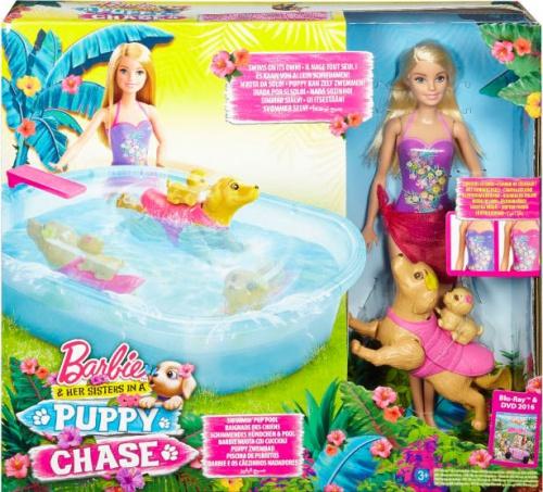 Набор с куклой Barbie 'Бассейн для щенков' (DMC32)