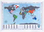Подарок Скретч карта Discovery Map Flags Edition English в рамке (белая)