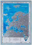 Подарок Скретч карта Европы Discovery Map English в рамке (серебристая)