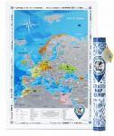 Подарок Скретч карта Европы Discovery Map English в тубусе