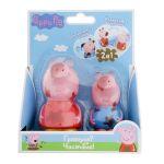 Набор игрушек-брызгунчиков Peppa 'Чистюля или грязнуля' (Пеппа и Джордж, меняют цвет в теплой воде) (30219)
