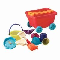Набор для игры с песком и водой Battat 'Тележка помидорчик' (BX1375Z)