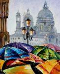 Картина по номерам 'Яркие зонтики'