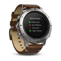 Смарт-часы Garmin Fenix Chronos - Steel with Vintage Leather Watch Band (010-01957-00)