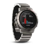 Смарт-часы Garmin Fenix Chronos - Titanium with Brushed Titanium Hybrid Watch Band (010-01957-01)