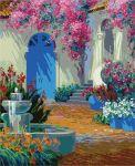 Картина по номерам 'Фонтан во дворе'