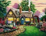 Картина по номерам 'Маленький сказочный домик'