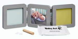 Подарок Тройная рамка Baby Art серая (34120139)