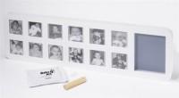 Подарок Рамка со слепком Baby Art 'Первый год' белая (34120085)