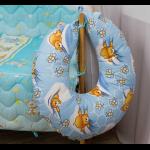 Подушка RUNO для кормления силиконовая (909_Блакитний)