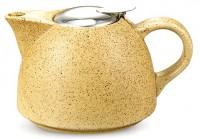 Подарок Заварочный чайник с ситечком Fissman керамический, 650 мл (TP-9298.650)