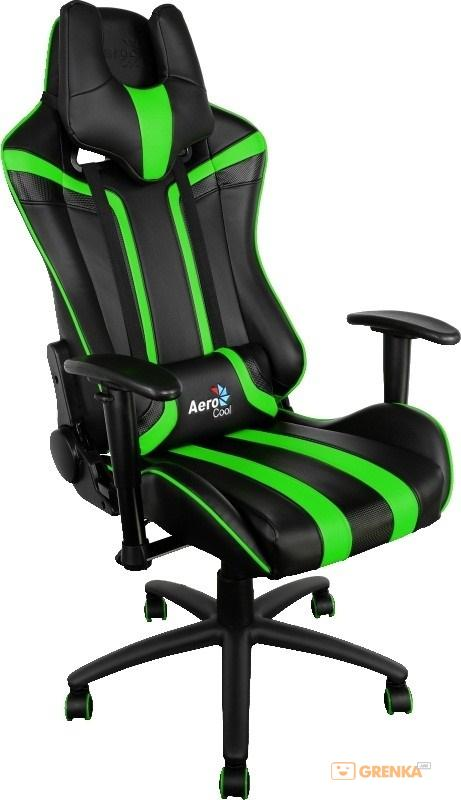 Геймерское кресло AeroCool AC120BG Gaming Chair Black/Green