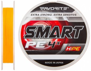 Шнур Favorite Smart PE 4x 150м (оранж.) #0.3/0.09мм 2.3кг (16931042)