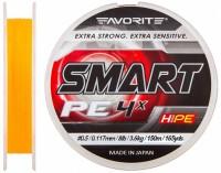Шнур Favorite Smart PE 4x 150м (оранж.) #0.5/0.117мм 3.6кг (16931040)