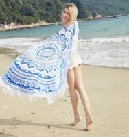 Подарок Подстилка пляжная 'Мандала голубая'