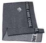 Полотенце махровое Cool, 50х90 см, дизайн 'Lines' синий