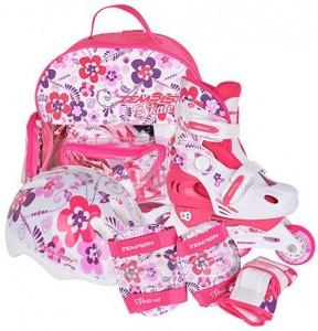 Роликовые коньки раздвижные Tempish Flower Baby skate (комплект) 26-29р
