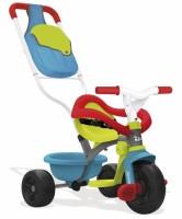 Детский трехколесный велосипед Smoby с багажником и сумкой (740402)