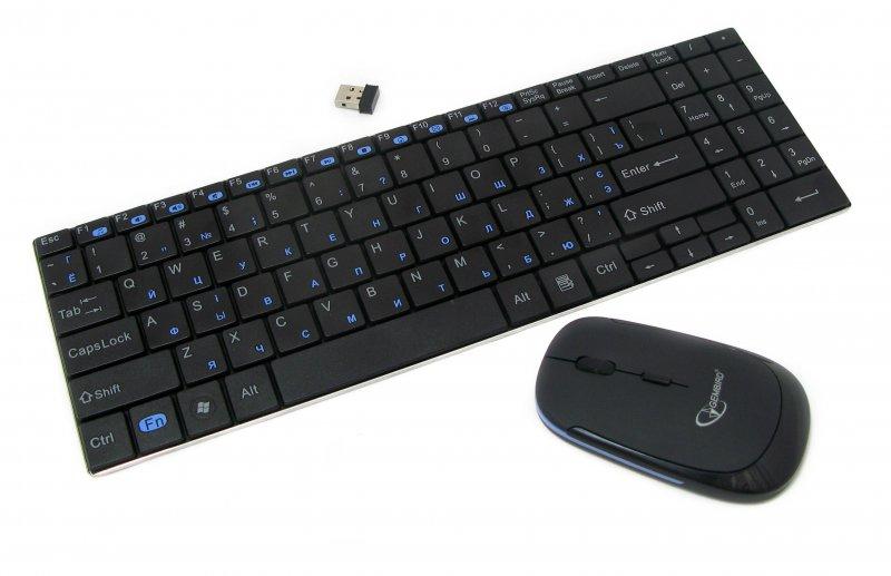 Беспроводной комплект Gembird клавиатура и мышка (KBS-P5-UA)